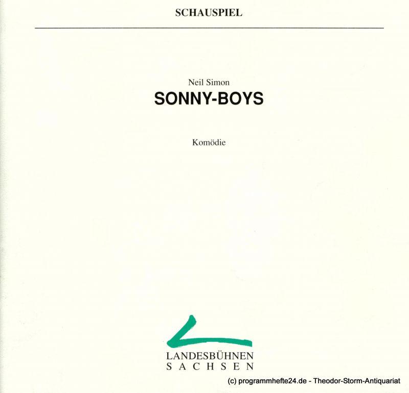 Landesbühnen Sachsen, Intendant Christian Schmidt, Gisela Zürner Programmheft Sonny-Boys ( The Sunshine-Boys ) Komödie von Neil Simon. Premiere am 3. / 4. Februar 1996. Spielzeit 1995 / 96 Heft 4