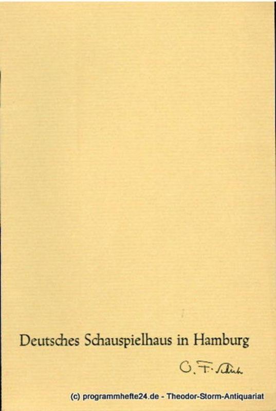 Deutsches Schauspielhaus in Hamburg, Oscar Fritz Schuh, Günther Penzoldt, Rosemarie Clausen Programmheft Mass für Mass. Schauspiel von William Shakespeare. Spielzeit 1964 / 65
