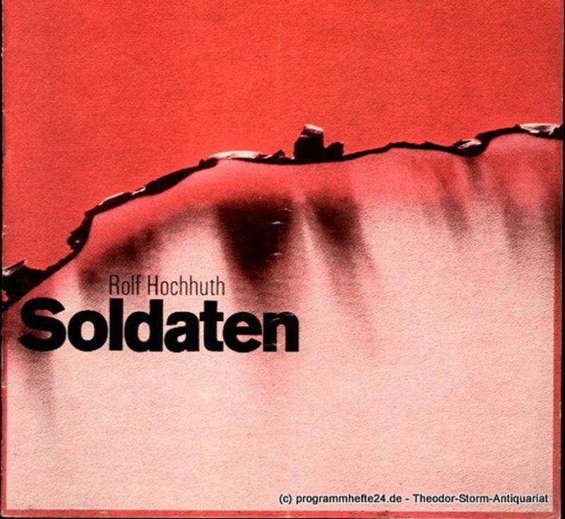 Deutsches Schauspielhaus in Hamburg, Oscar Fritz Schuh, Gerhard Hirsch, Hans-Günter Martens Programmheft Soldaten von Rolf Hochhuth. Spielzeit 1968 / 69 Heft 11
