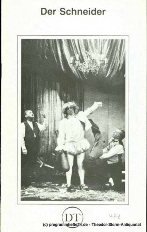 Deutsches Theater Göttingen, Günther Fleckenstein Programmheft Der Schneider ( Krawiec ) von Slawomir Mrozek. Deutsche Erstaufführung. Premiere 11. Oktober 1980. Spielzeit 1980 / 81 Heft 478