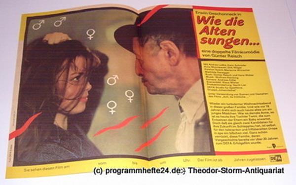 DEFA Gruppe Johannisthal Filmplakat Wie die Alten sungen ... eine doppelte Filmkomödie von Günter Reisch