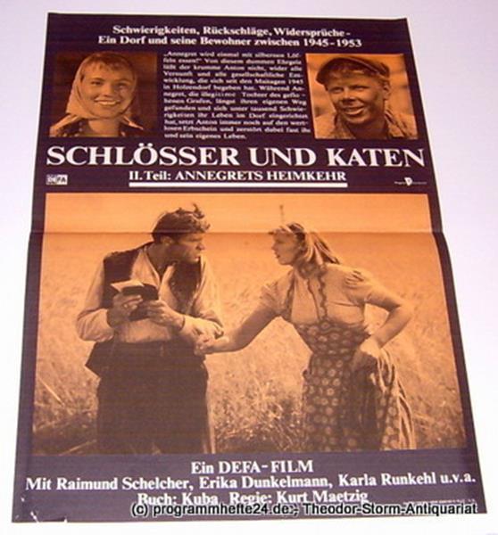 DEFA Filmplakat Schlösser und Katen II. Teil: Annegrets Heimkehr