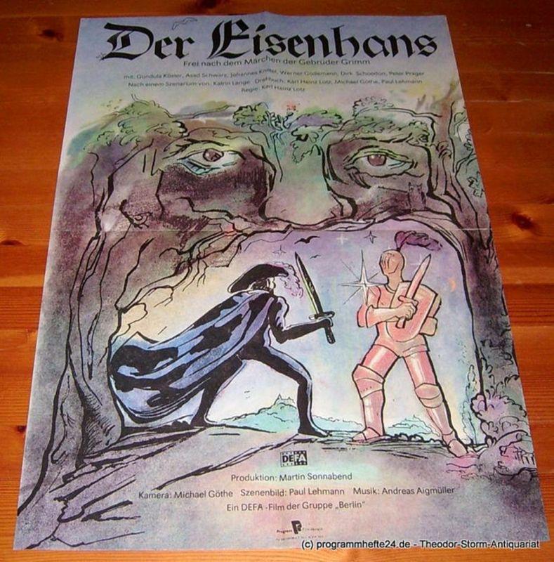DEFA Gruppe Berlini Filmplakat Der Eisenhans. Frei nach dem Märchen der Gebrüder Grimm