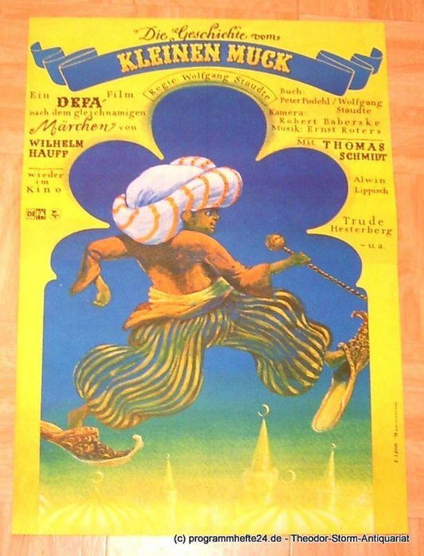 DEFA, Wolfgang Staudte Filmplakat Die Geschichte vom Kleinen Muck. Ein DEFA - Film nach dem gleichnamigen Märchen von Wilhelm Hauff wieder im Kino