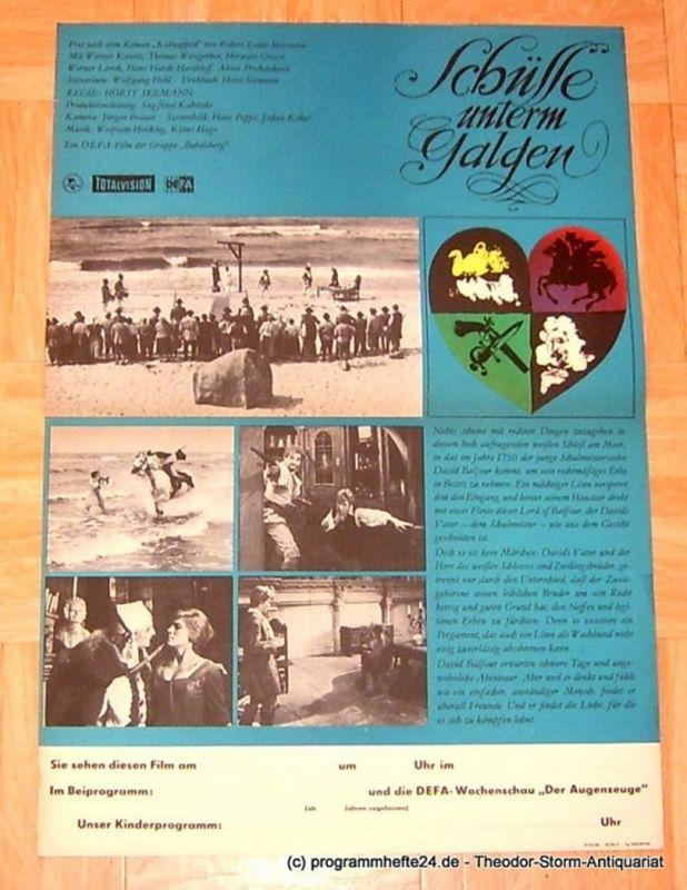 DEFA Gruppe Babelsberg Filmplakat Schüsse unterm Galgen