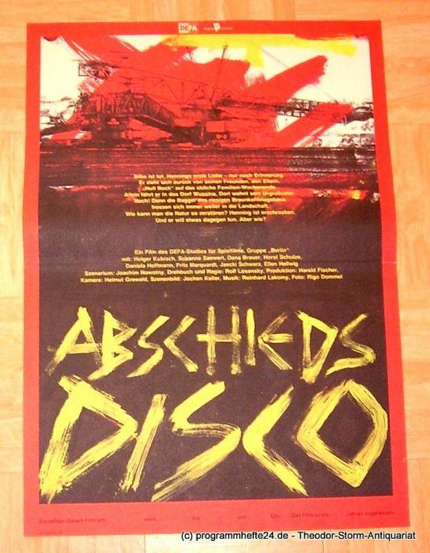 DEFA Studio für Spielfilme, Gruppe Berlin Filmplakat Abschiedsdisco ( Abschieds Disco )