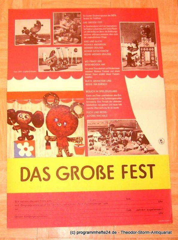DEFA Studio für Trickfilme Filmplakat Das Große Fest - Wo fängt der Regenbogen an - Besuch im Spielzeugland