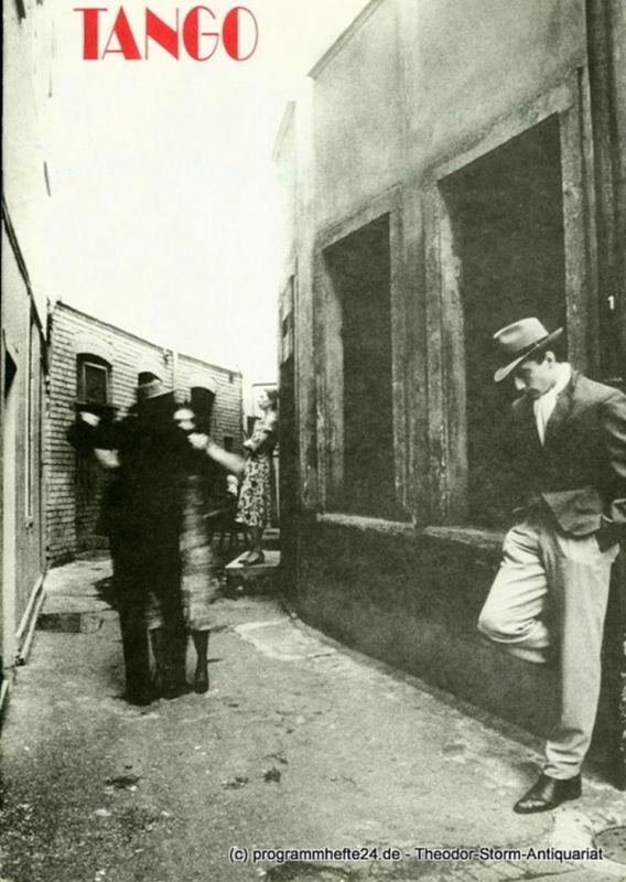 Hessisches Staatstheater Wiesbaden, Christoph Groszer, Ehrhard Reinicke Programmheft zur Premiere TANGO, ballett von Gabriel Sala, am 2.6.1984