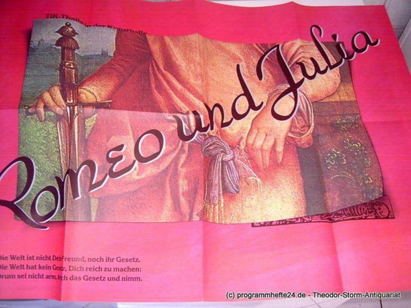 TiK - Thalia in der Kunsthalle, Thalia Theater Hamburg, Peter Striebeck, Volker von Vogel, Wolfgang Schröder Programmheft Romeo und Julia von William Shakespeare. Theaterplakat. Premiere am 4. Dezember 1983. Spielzeit 1983 / 84