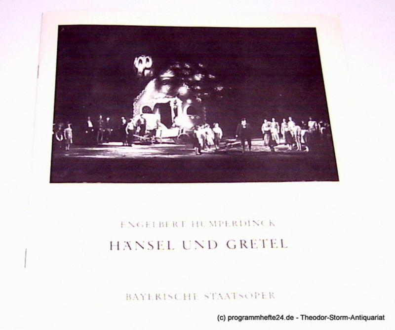 Bayerische Staatsoper, August Everding Programmheft Hänsel und Gretel. Märchenspiel von Engelbert Humperdinck