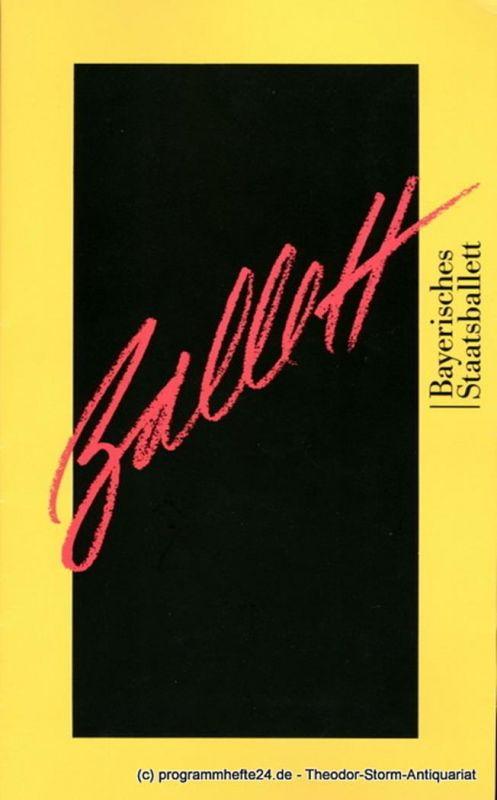 Bayerisches Staatsballett, Konstanze Vernon Programmheft Der Feuervogel - Chamber Symphony - Große Fuge. 7. Dezember 1997