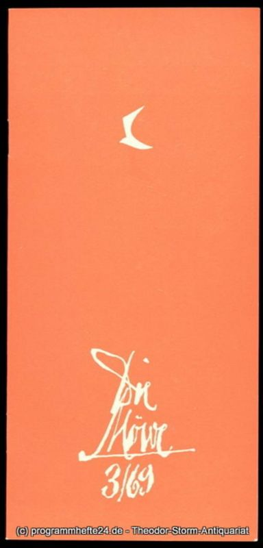 Die Möwe, Zentraler Klub der Gewerkschaft Kunst, Wolf Kaiser, Raimund Wölbing Programmheft Die Möwe 3 / 69
