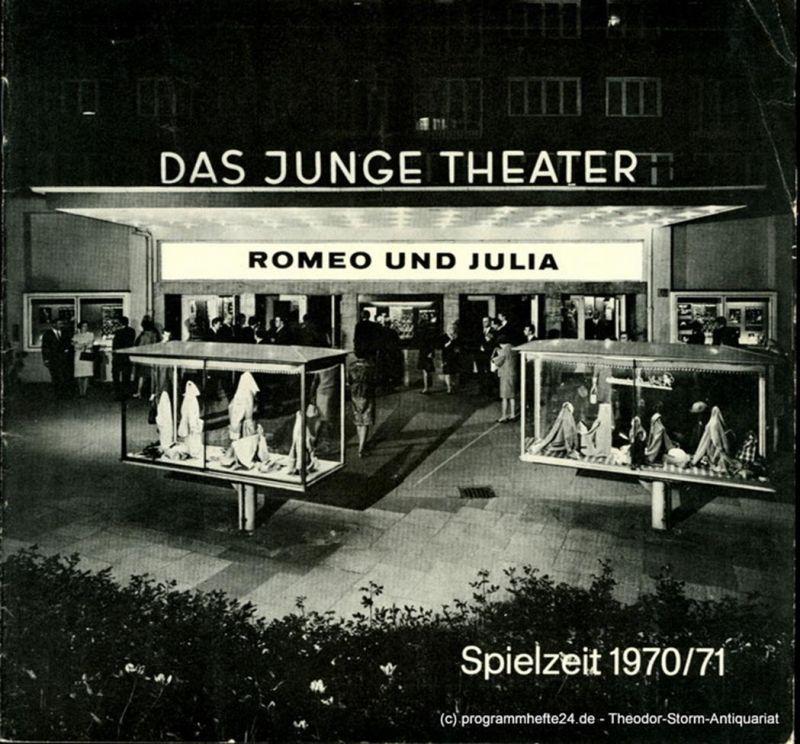 Das Junge Theater, Friedrich Schütter, Wolfgang Borchert Programmheft Romeo und Julia. Tragödie von William Shakespeare. Spielzeit 1970 / 71 Heft 4