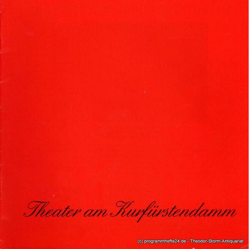 Theater am Kurfürstendamm, Brigitte Wölffer-Wenkel Programmheft In bester Gesellschaft ( The Pleasure of his Company ). Spielzeit 1984 / 85
