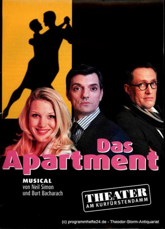 Theater am Kurfürstendamm, Direktion Woelffer Programmheft Das Apartment. Musical von Neil Simon und Burt Bacharach. Premiere 16. März 2008
