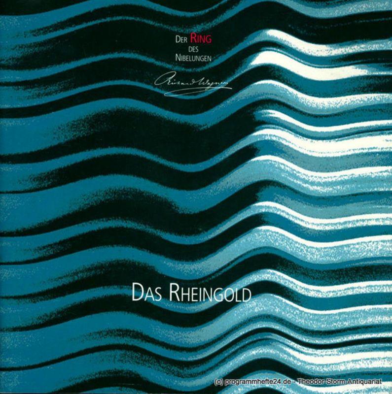 Sächsische Staatsoper Dresden, Semperoper, Christoph Albrecht, Hella Brtnig, Klaus Bertisch, Ekkehard Walter Programmheft Das Rheingold. Premiere am 30. September 2001. Spielzeit 2001 / 2002 Semperoper