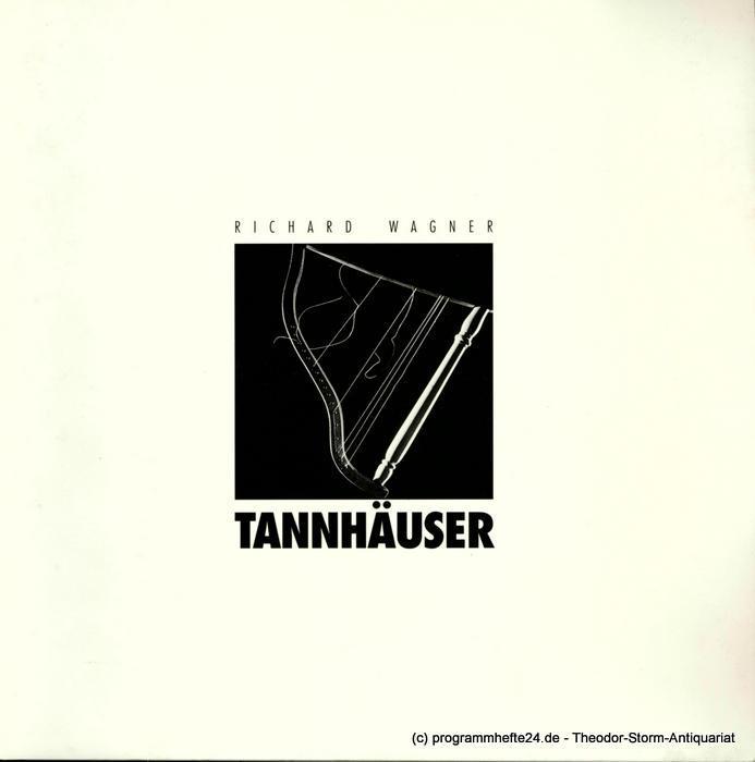 Sächsische Staatsoper, Semperoper, Christoph Albrecht, Werner Hintze Programmheft TANNHÄUSER und der Sängerkrieg auf Wartburg. Premiere am 29. Juni 1997. Spielzeit 1999 / 2000 Semperoper