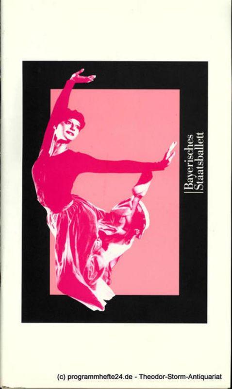 Bayerische Staatsoper, Bayerisches Staatsballett, Konstanze Vernon, Bettina Wagner-Bergelt Programmheft GISELLE. Ballett in zwei Akten von Mats Ek. Ballettwoche 1997