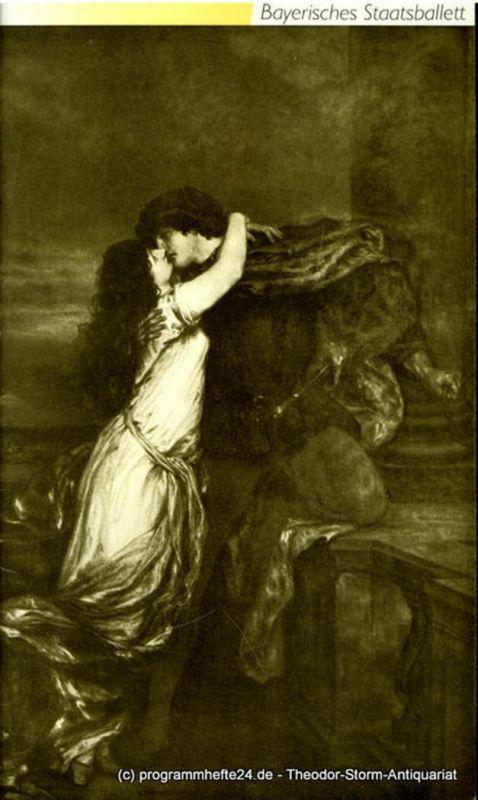 Bayerische Staatsoper, Bayerisches Staatsballett Konstanze Vernon, Bettina Wagner-Bergelt Programmheft zum Ballett Romeo und Julia. Spielzeit 1990 / 91