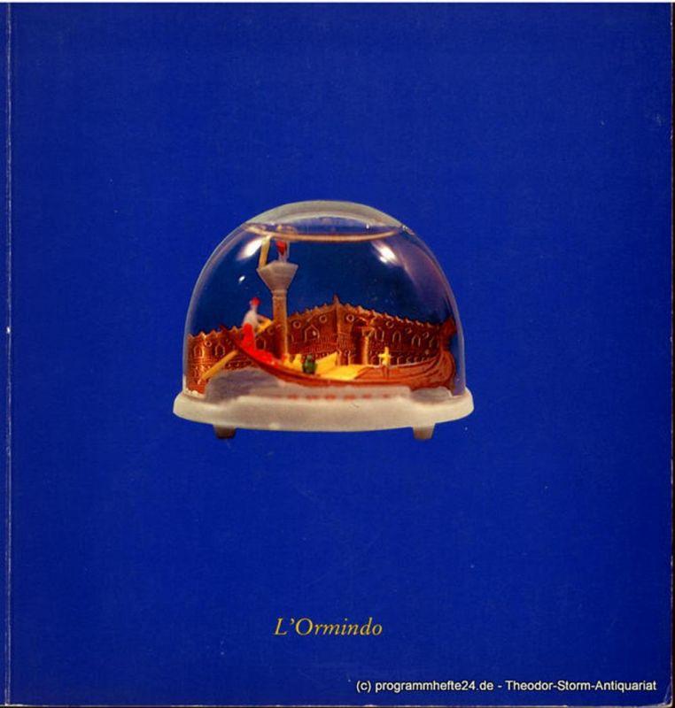 Hamburgische Staatsoper, Christoph von Dohnanyi, Peter Dannenberg Programmheft zur Premiere L'Ormindo. Oper von Francesco Cavalli am 28. April 1984