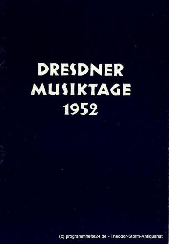 Staatsoper Dresden, Karl Görs Programmheft Die Scholaren von Krakau. Oper von Roman Brandstaetter. Deutsche Erstaufführung am 26. Oktober 1952 im Rahmen der Dresdner Musiktage 1952