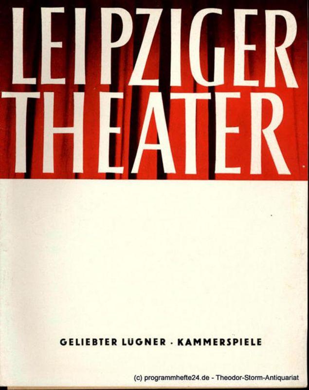 Leipziger Theater, Städtische Theater Leipzig, Karl Kayser, Hans Michael Richter, Wolfgang Wörpel, Isolde Hönig Programmheft Geliebter Lügner ( Dear Liar ) von Jerome Kilty. Kammerspiele. Spielzeit 1965 / 66 Heft 1