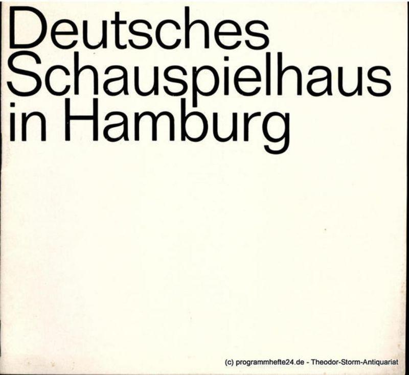 Deutsches Schauspielhaus in Hamburg, O.F. Schuh, Günther Penzoldt, Rolf Wilken, Hannelore Gerber Programmheft OPUS von James Saunders. Spielzeit 1967 / 68 Heft 12