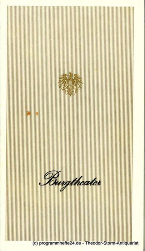 Wiener Burgtheater, Lothar Knessl Burgtheater Programmheft Maria Stuart von Friedrich Schiller. Saison 1983 / 84 Heft Nr. 7