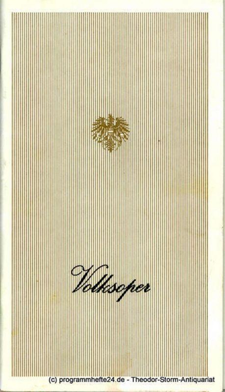Wiener Volksoper, Karl Dönch, Lothar Knessl Programmheft Kleider machen Leute. Musikalische Komödie. Premiere 15. Juni 1985. Saison 1984 / 85