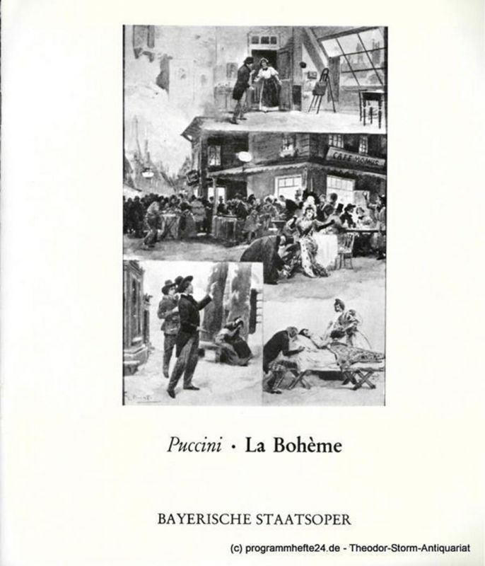 Bayerische Staatsoper, Staatsintendant August Everding Programmheft La Boheme. Premiere 14. Juni 1969