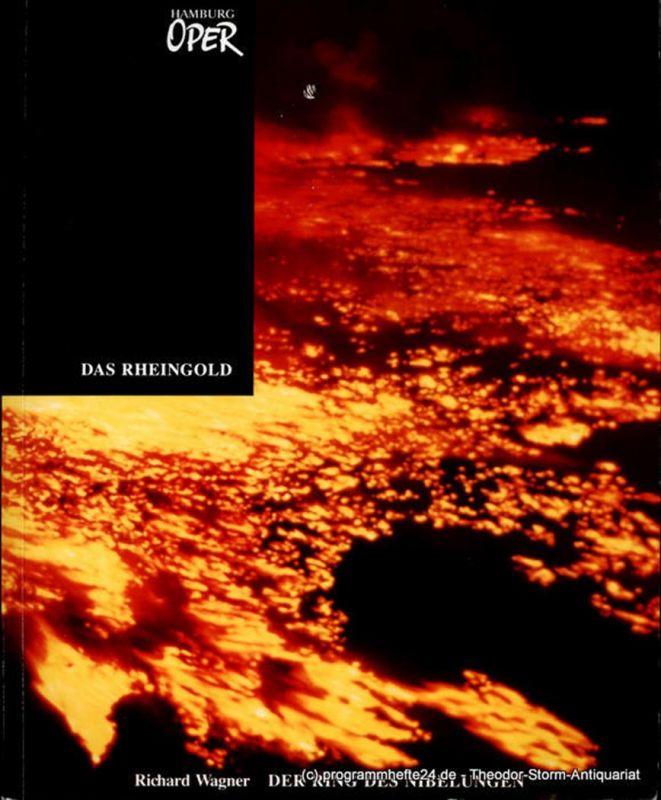 Hamburg Oper, Hamburgische Staatsoper, Peter Ruzicka, Gerd Albrecht, Wulf Konold, Annedore Cordes Programmheft zur Premiere Das Rheingold von Richard Wagner an der Hamburgischen Staatsoper am 12. April 1992