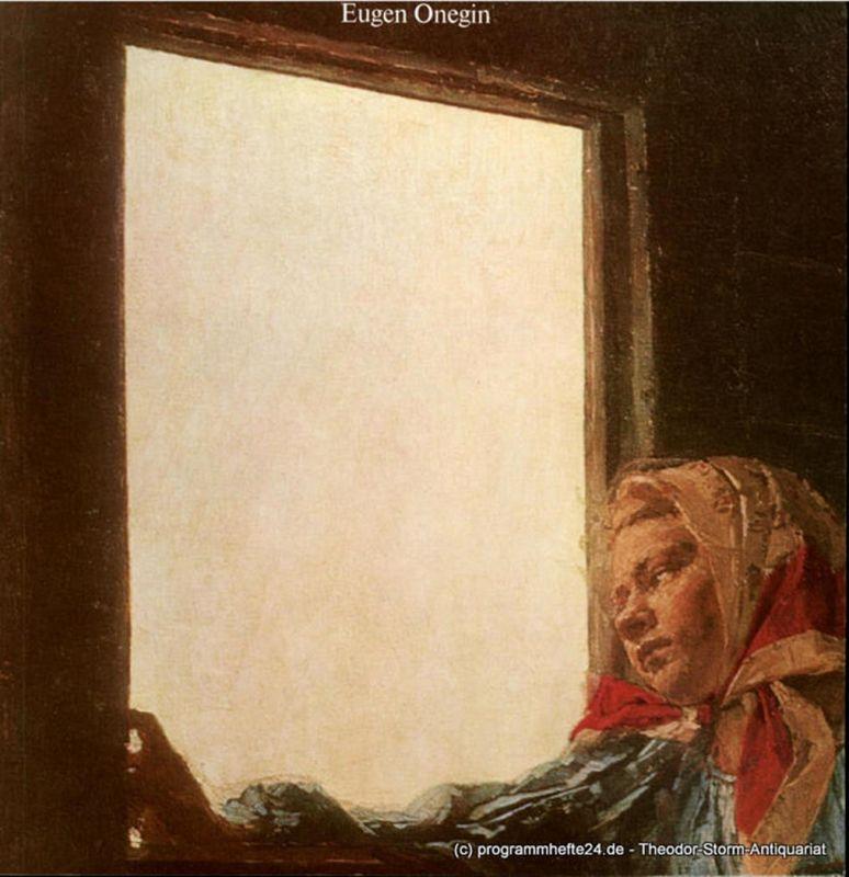 Hamburgische Staatsoper, Hamburg Oper, Peter Dannenberg Programmheft Eugen Onegin. Lyrische Szenen in 7 Bildern. Sonnabend 29. September 2001