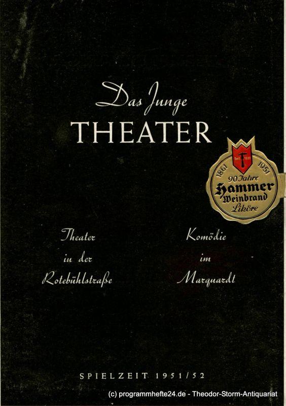 Das Junge Theater. Komödie im Marquardt, Albert E. Gläser Programmheft Pygmalion. Spielzeit 1951 / 52 Heft Nr. 6