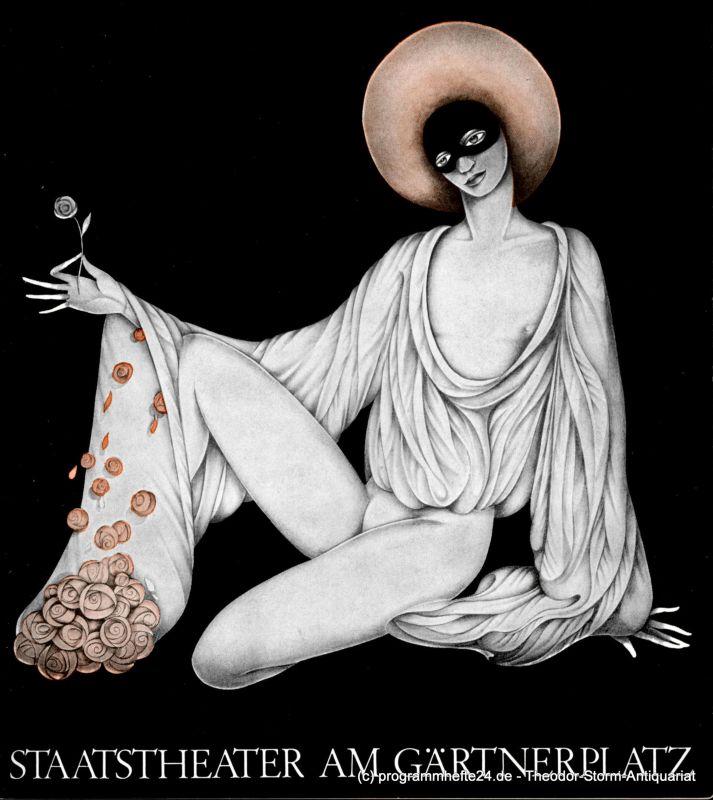 Staatstheater am Gärtnerplatz, Kurt Pscherer, Peter Kertz Programmheft Der Barbier von Sevilla ( Il Barbiere di Siviglia ) Spielzeit 1968 / 69 Heft III