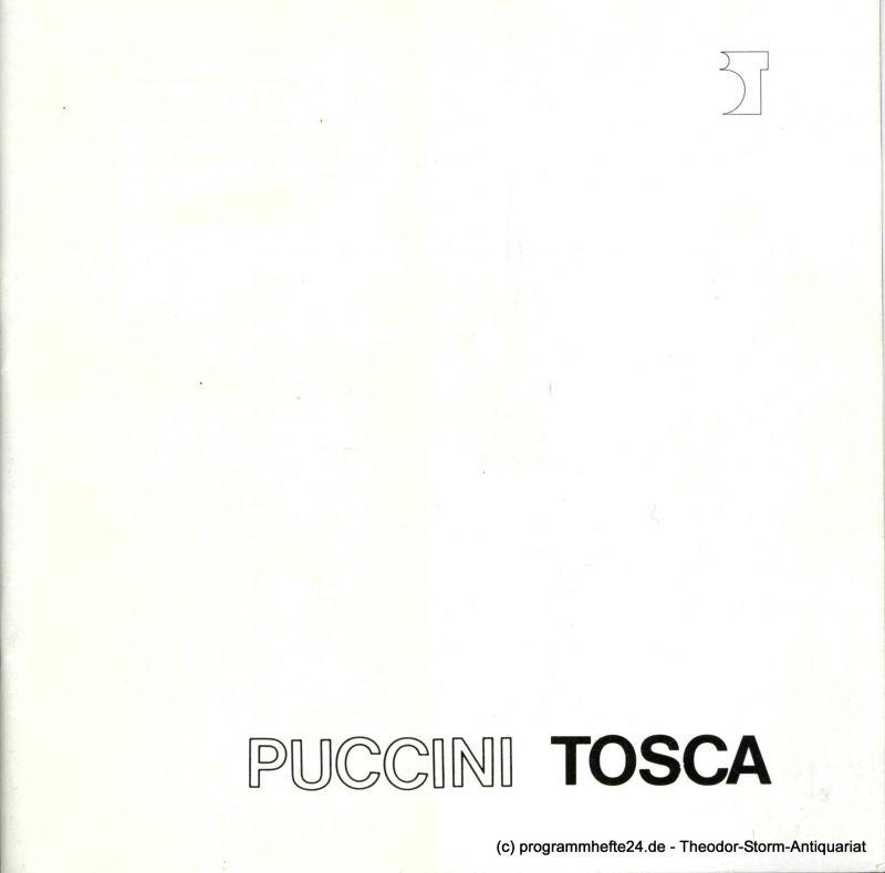 Bremer Theater, Theater der Freien Hansestadt Bremen, Tobias Richter, Michael Klügl, Frank Hilbrich Programmheft TOSCA. Premiere 29. Mai 1988. Spielzeit 1987 / 88 Programmheft 18