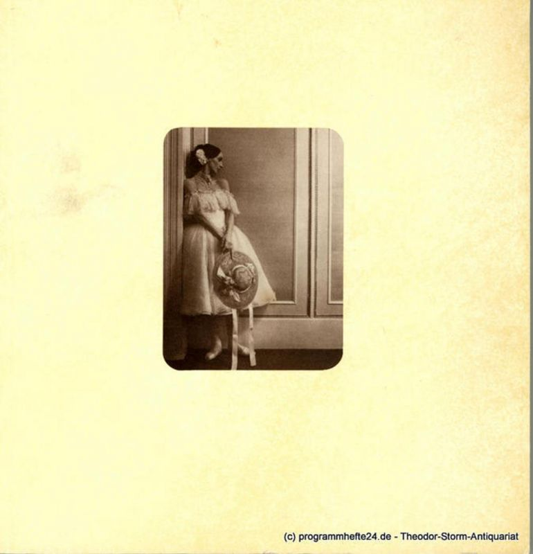 Hamburg Oper, Hamburg Ballett, Hamburgische Staatsoper, John Neumeier, Barbara Hering Programmheft zur Hamburger Erstaufführung des Balletts Die Kamliendame am 1. Februar 1981