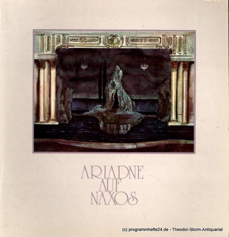 Hamburgische Staatsoper, Christoph von Dohnanyi, Peter Dannenberg, Barbara Hering Programmheft Ariadne auf Naxos. Oper von Hugo von Hofmannsthal 27. April 1980