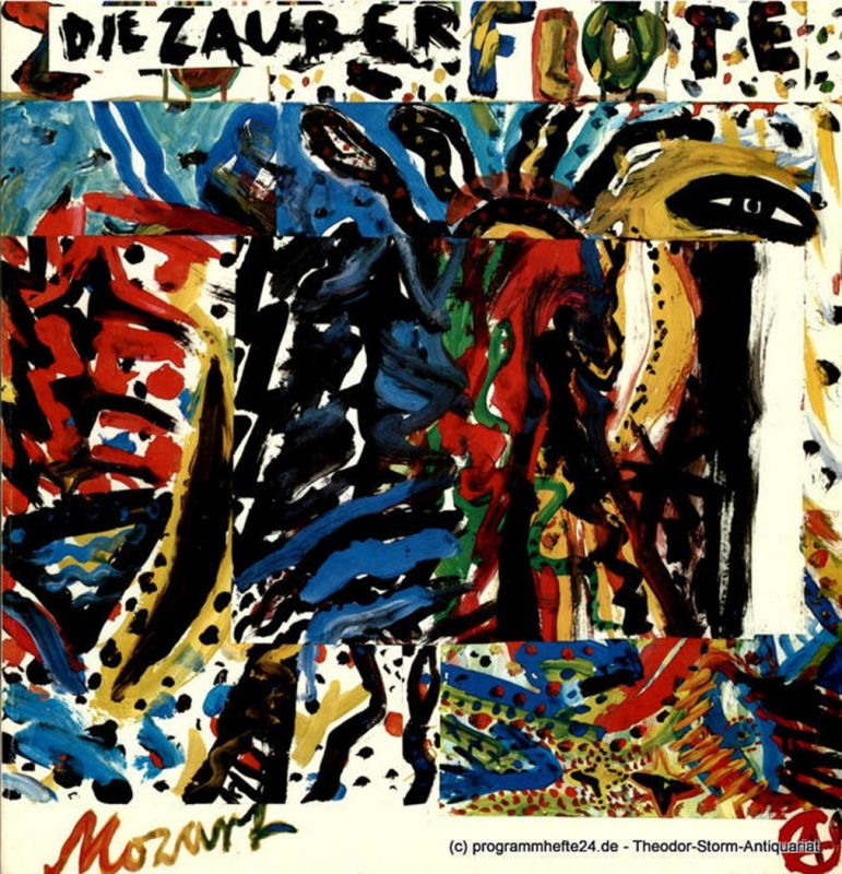 Hamburgische Staatsoper, Christoph von Dohnanyi, Peter Dannenberg, Klaus Klein Programmheft zur Premiere Die Zauberflöte am 20. Mai 1982