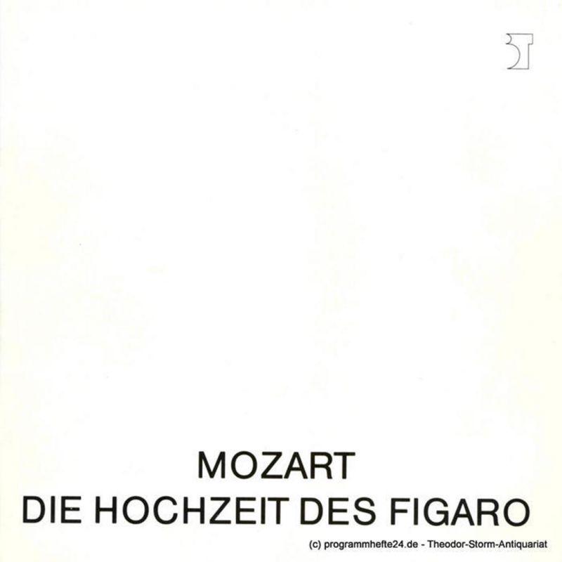 Bremer Theater, Tobias Richter, Michael Klügl, Frank Hilbrich Programmheft Die Hochzeit des Figaro. Bremer Fassung. Programmheft 14 / 2. April 1988