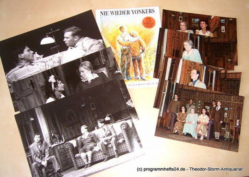 Münchner Tournee, Margit Bönisch GmbH Programmheft NIE WIEDER YONKERS. Komödie von Neil Simon. Deutsche Erstaufführung 1994 mit beiliegenden original Szenenfotos