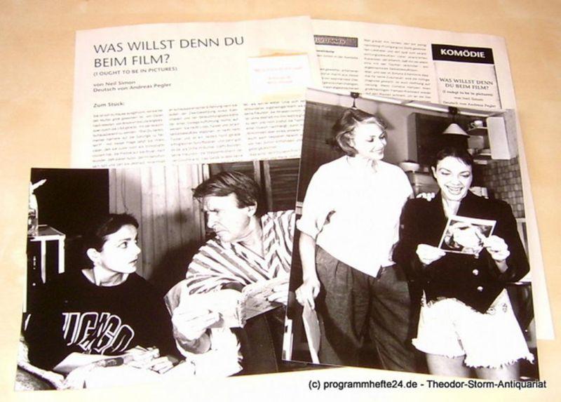 Neue Schaubühne München Pressematerial zu Was willst Du denn beim Film von Neil Simon mit 2 original Szenenfotos