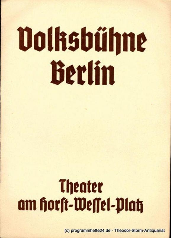 Volksbühne Berlin, Theater am Horst-Wessel-Platz, Eugen Klöpfer, Felix Lützkendorf Programmheft College Crampton. Komödie von Gerhart Hauptmann