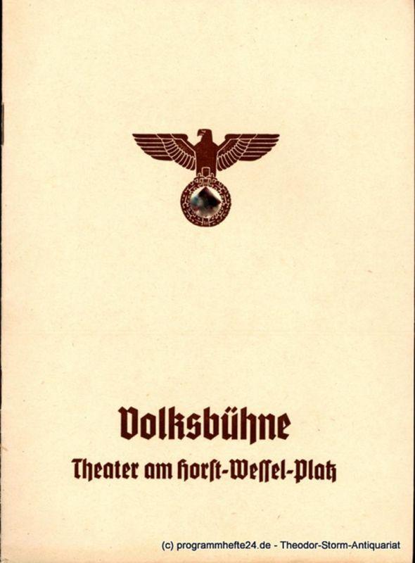 Volksbühne Berlin, Theater am Horst-Wessel-Platz, Eugen Klöpfer, Fritz R. Schulz Programmheft MEDEA. Trauerspiel von Franz Grillparzer