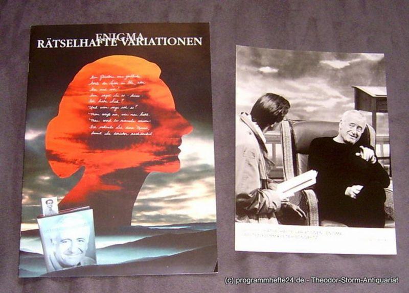 Konzertdirektion Landgraf Programmheft Rätselhafte Variationen - Enigma. Premiere am 25.11.1998 im Stadttheater Amberg