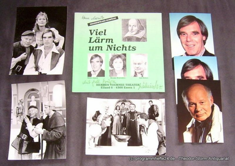 Hermes Tournee Theater, Horst Wickinghoff Programmheft Viel Lärm um Nichts. Shakespeare-Komödie. September 1992