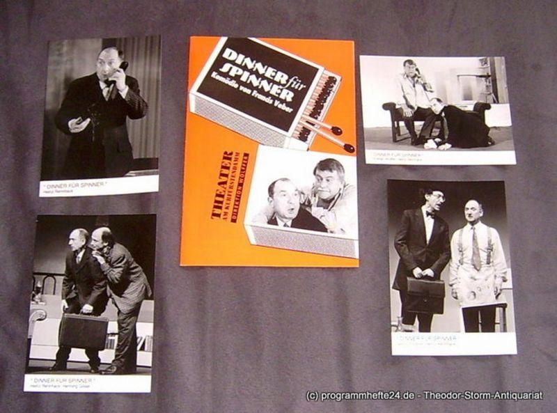 Theater am Kurfürstendamm, Direktion Wölffer Programmheft Dinner für Spinner. Komödie von Francis Veber. Premiere 22. August 1996
