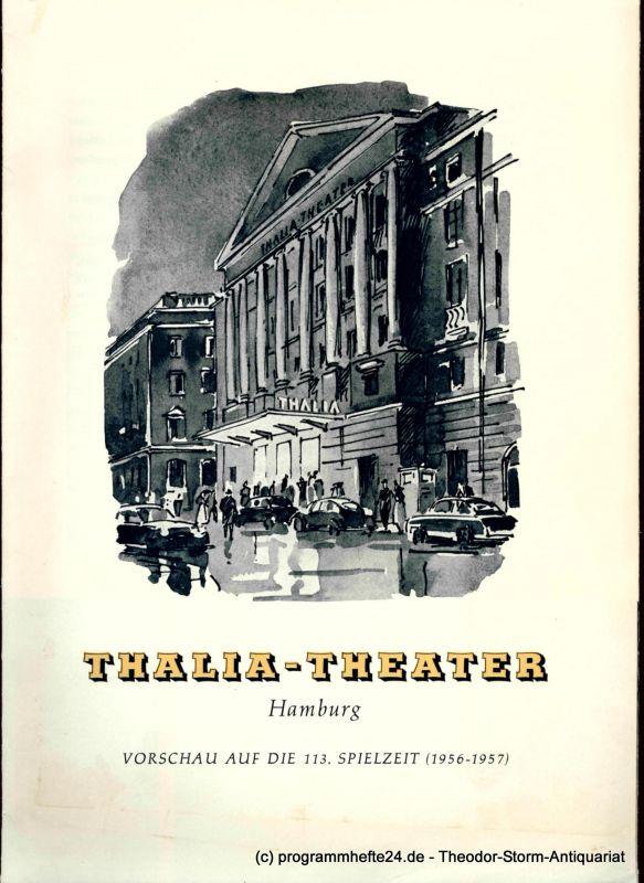 Thalia Theater Hamburg Vorschau auf die 113. Spielzeit 1956 - 1957
