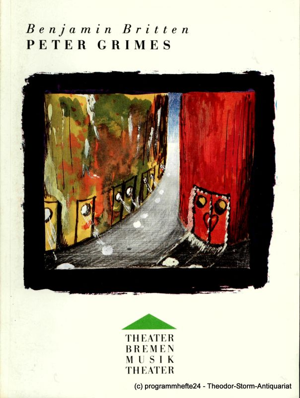Theater Bremen, Musiktheater, Dagmar Birke Programmheft Peter Grimes von Benjamin Britten