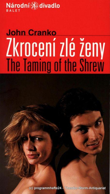 Narodni divadlo Balet Programmheft John Cranko: Zkroceni zle zeny. The Taming of the Shrew. Sezona 2002 / 2003