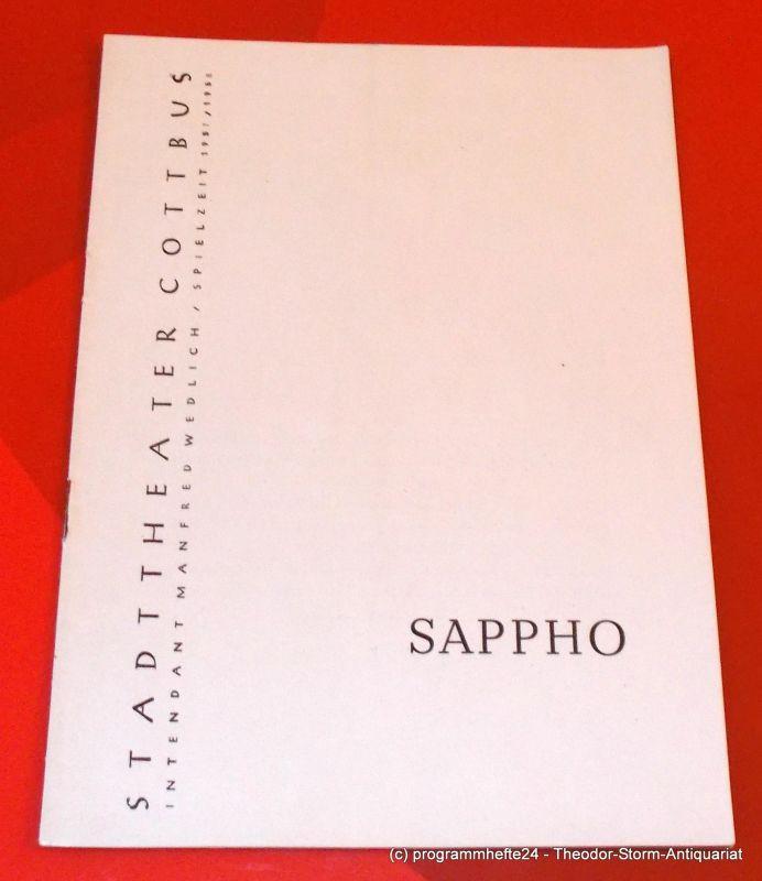 Stadttheater Cottbus, Manfred Wedlich, Programmheft SAPPHO. Trauerspiel von Franz Grillparzer. Spielzeit 1957 / 58 Heft 2